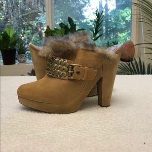 Michael Kors high heeled clogs